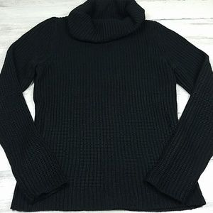 The Limited Black Cowl Turtleneck Sweater Large